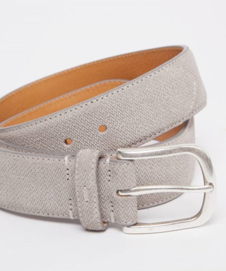 ANDREA ZORI LEATHER BELT WITH SILVER BUCKLE