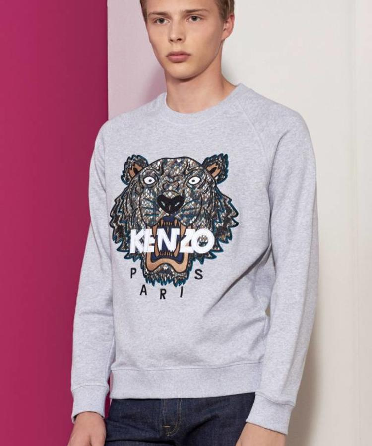 KENZO KENZO TIGER SWEATER WITH SNAKE PRINT