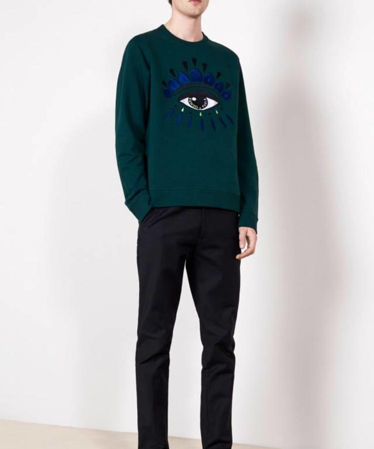 KENZO KENZO FOREST GREEN EYE SWEATER