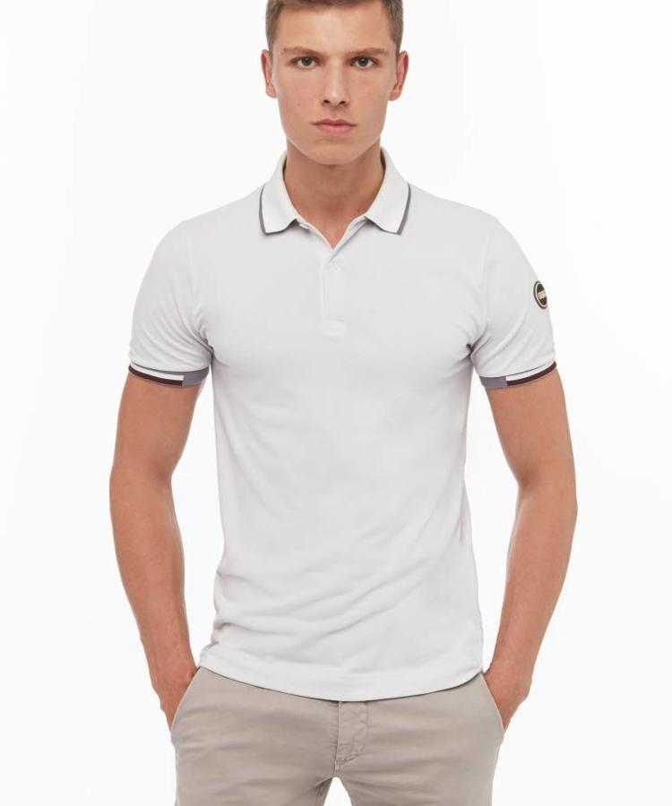 COLMAR COLMAR MEN'S POLO SHIRT IN STRETCH COTTON WHITE