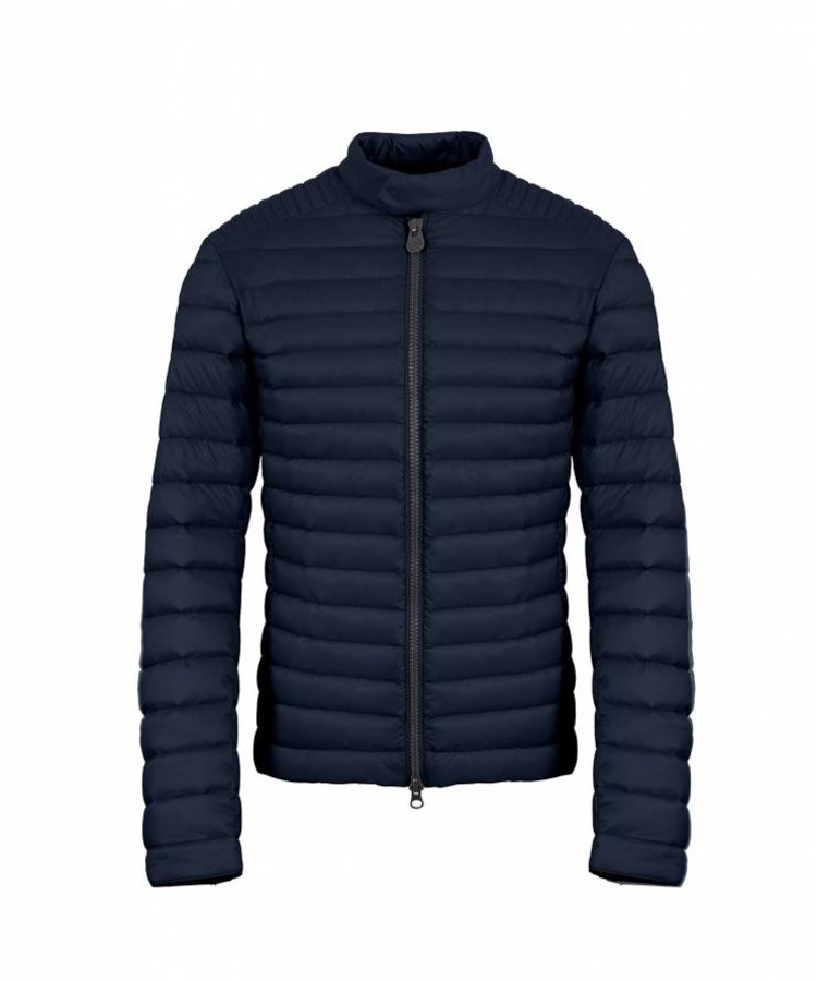 COLMAR COLMAR MEN'S DOWN PADDED BIKER JACKET IN STRETCH FABRIC WITH A HIGH NECK