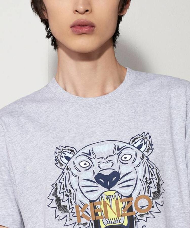 KENZO KENZO GREY TIGER T-SHIRT