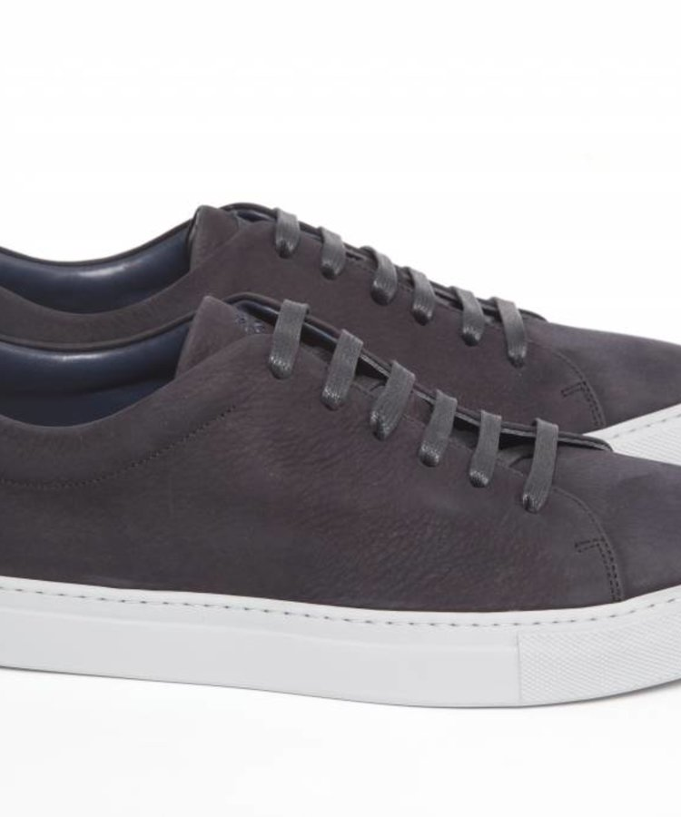 ANDREA ZORI ANDREA ZORI MIDNIGHT BLUE LOW TOP NUBUCK SNEAKER