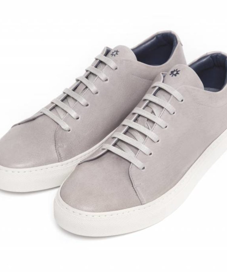 ANDREA ZORI ANDREA ZORI TAUPE LOW TOP SHEEP LEATHER SNEAKER