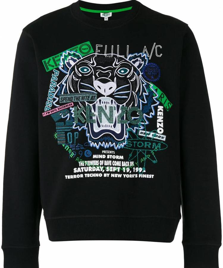 KENZO KENZO PARTY GLITTER TIGER SWEATER