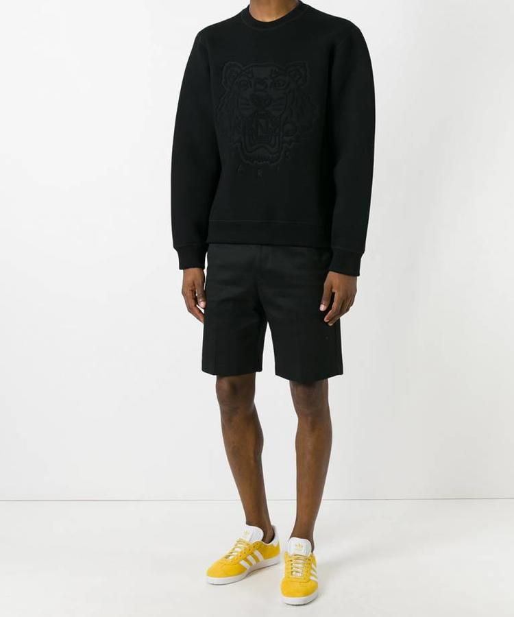 KENZO KENZO BLACK SCUBA TIGER SWEATER