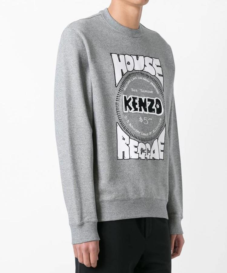 KENZO KENZO HOUSE REGGAE SWEATER GREY