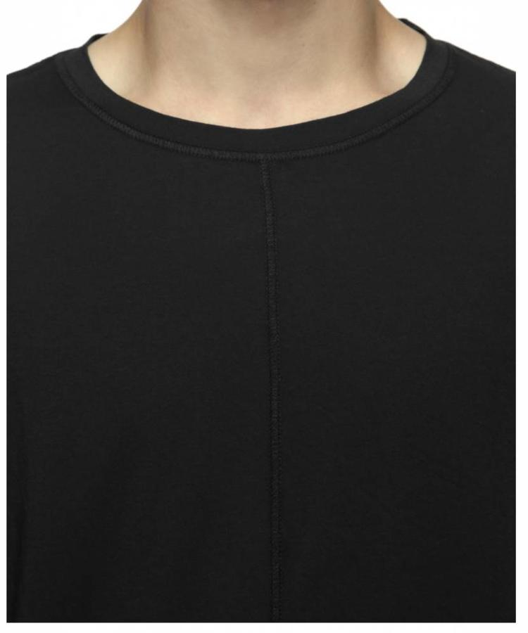 BLK DNM NYC BLK DNM FADED BLACK T-SHIRT WITH STITCHED LINES
