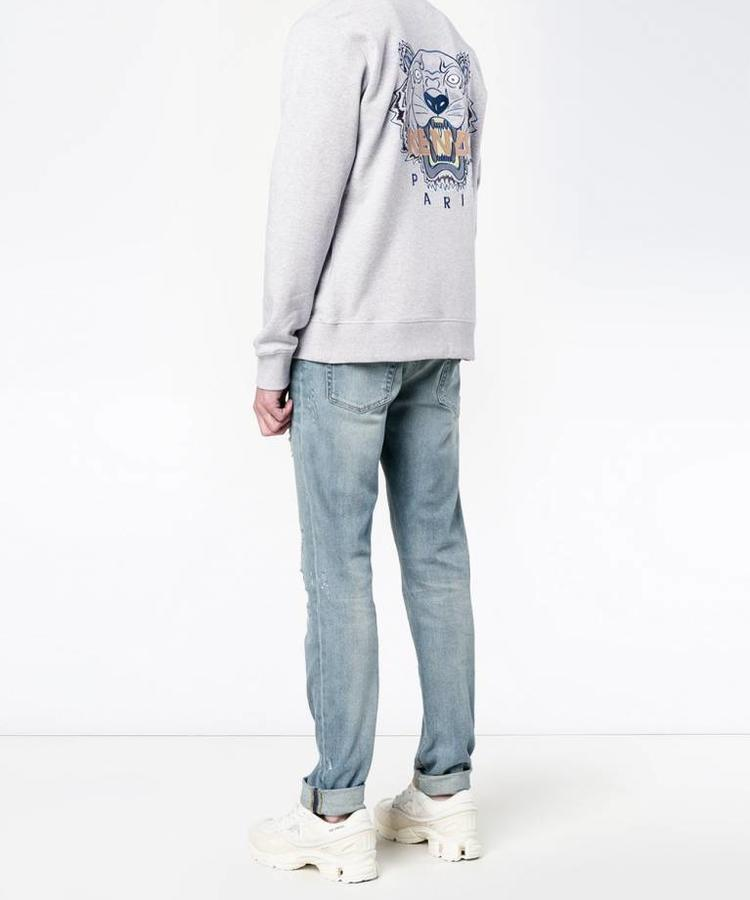 KENZO KENZO LIGHT GREY TIGER BOMBER JACKET