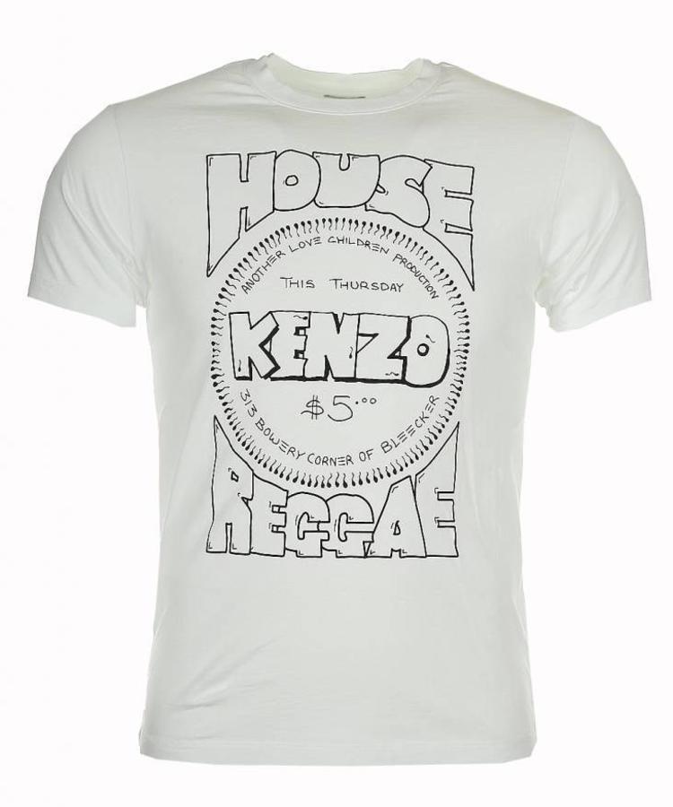KENZO KENZO HOUSE REGGAE WHITE T-SHIRT