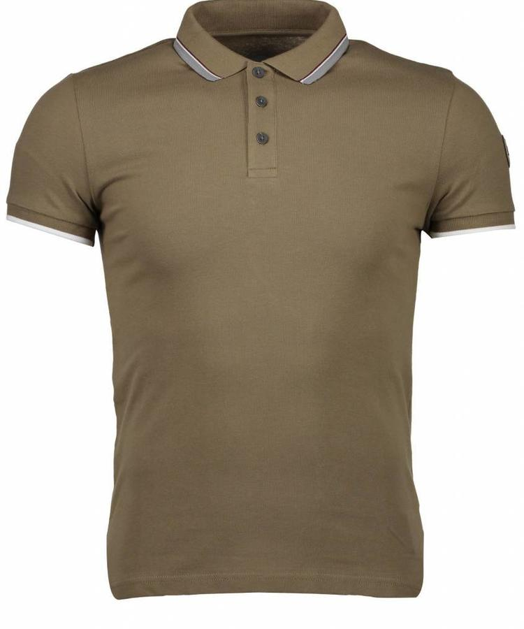 COLMAR COLMAR MEN'S POLO SHIRT IN STRETCH COTTON KAKI