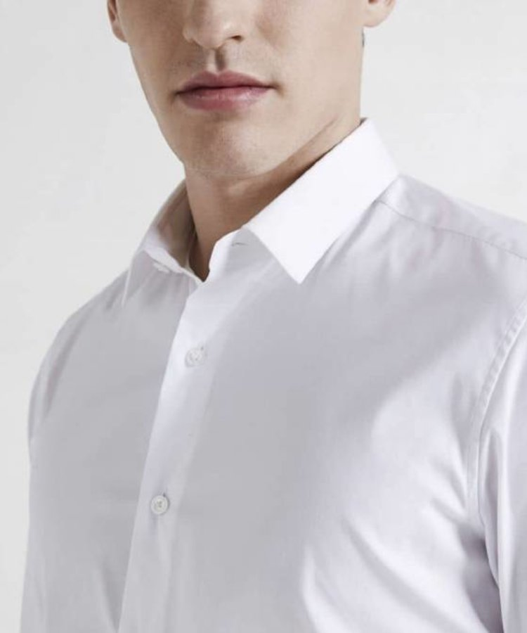 XACUS XACUS WHITE SLIM FIT TRAVEL SHIRT