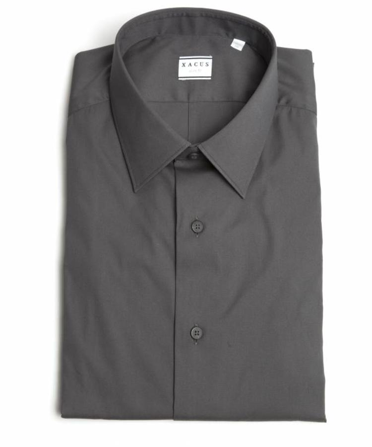 XACUS XACUS ANTRACITE SLIM FIT STRETCH SHIRT