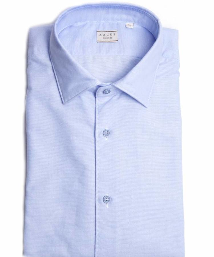 XACUS XACUS LIGHT BLUE SUPER COTTON WASHED SHIRT