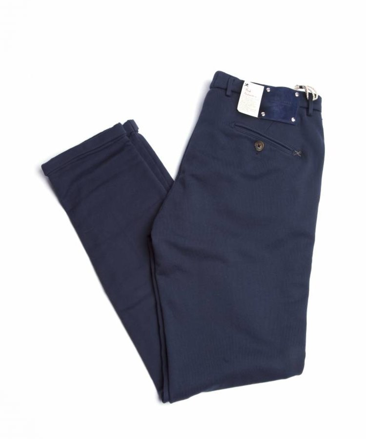 TRAMAROSSA TRAMAROSSA COTTON STRETCH ARSENALE PANTS NAVY