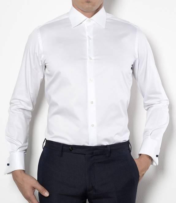 Xacus xacus slim fit tuxedo shirt senso fashion for Extra slim tuxedo shirt