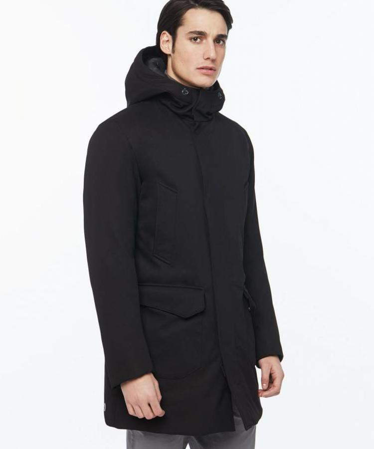 COLMAR COLMAR WOOL EFFECT LONG DOWN JACKET