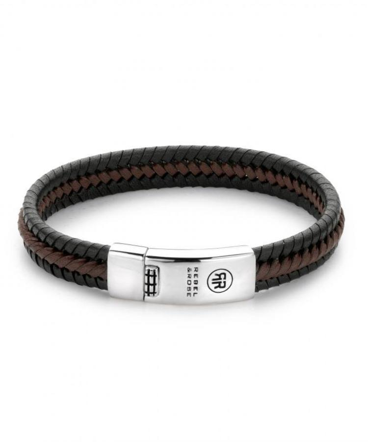REBEL & ROSE REBEL & ROSE TWISTED BLACK/BROWN - ABSOLUTELY LEATHER