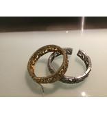 Gemini, 2 bangles, one silver, one gold