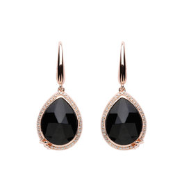 Lauryn Rose Lauryn Rose Tear drop shaped black Stones