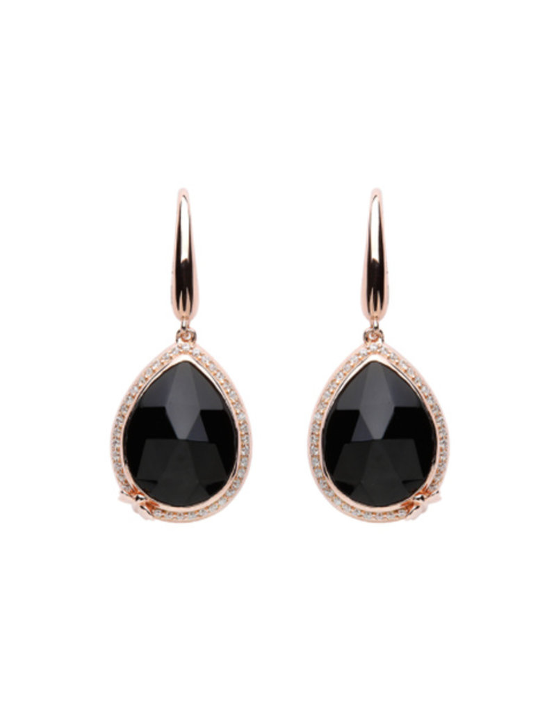 Lauryn Rose Lauryn Rose Tear drop shaped black Stones