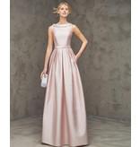 Pronovias High neck full length gown in satin