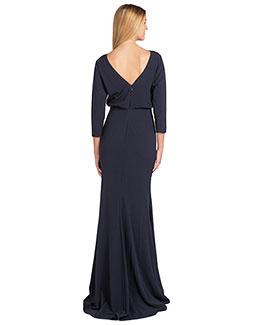 Badgley Mischka Badgley Mischka Long Dress with v back