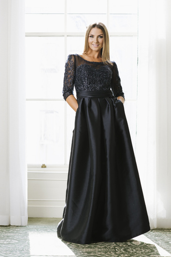 Pronovias Pronovias Navy ball gown, embellished top with full skirt, 12, Navy