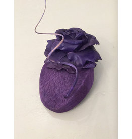 Edel Ramberg Edel Ramberg Purple Hat with Flower/Quil