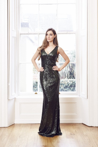 So Amazing Jessica Sequin v neck front and back