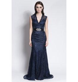 Frock N Fabulous Frocknfabulous Lace dress with train and belt 13538