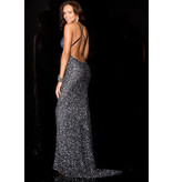 Jonny Drama Scala Charcoal Sequin GownScala Charcoal Sequin Gown, Charcoal, 10
