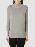Selected Femme Selected Femme Grey high neck knit pullover