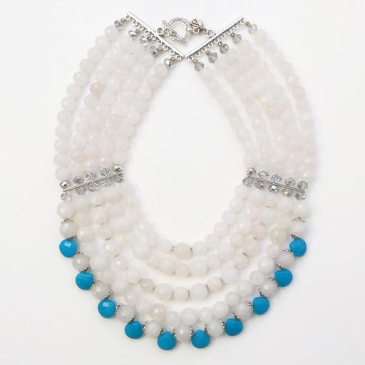 Frock N Fabulous Nerfertiti necklace Nerfertiti necklace , Wht, 1
