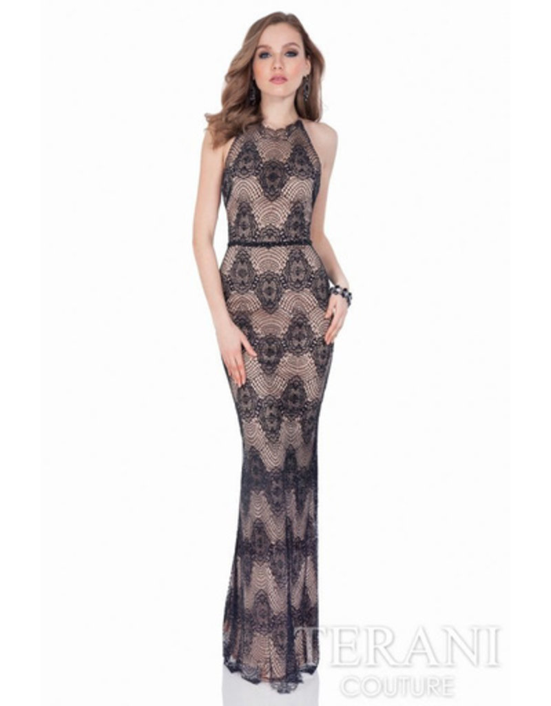 Sidney Leigh Terani Lace Gown