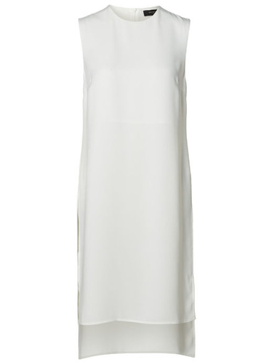 Selected Femme White sleeveless long top with side slits 40