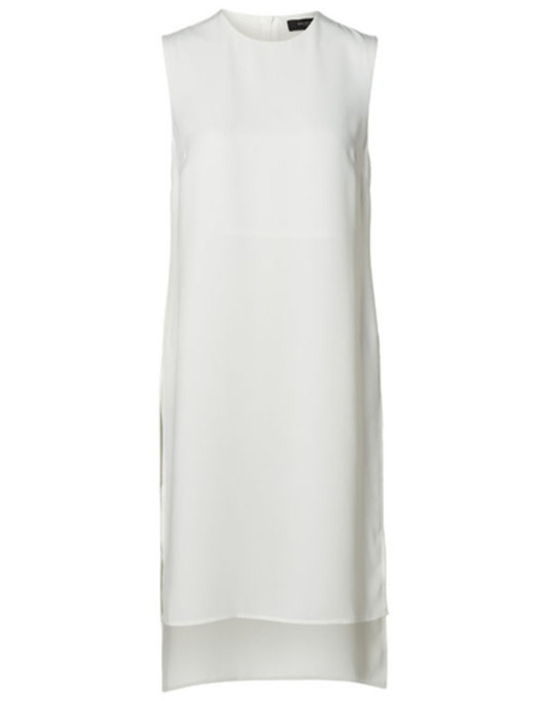 Selected Femme White sleeveless long top with side slits 36