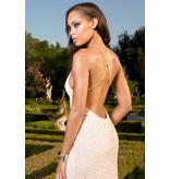Jonny Drama Scala Blush/White Embellished GownScala Blush/White Embellished Gown, Blush, 6