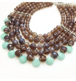 Aria V Jewellery Aria V Jewellery Smokey Agate/jade neckpiece