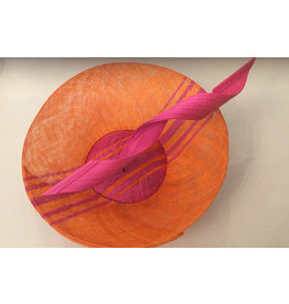Aisling Ahern Aisling Ahern Orange/Pink hat with high swirl