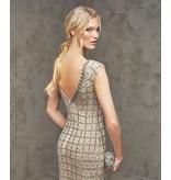 Pronovias Pronovias Flede short sequin dress with v-back