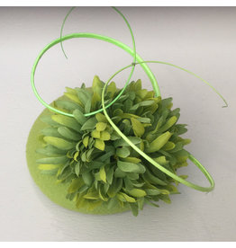 Fiona Mangan Fiona Mangan Lime Green button hat