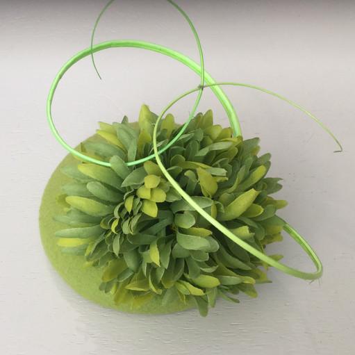 Fiona Mangan Fiona Mangan Lime Green button hat