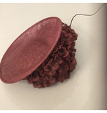 Aisling Ahern Aisling Ahern Wine Sinimay hat with with wine flower and quill