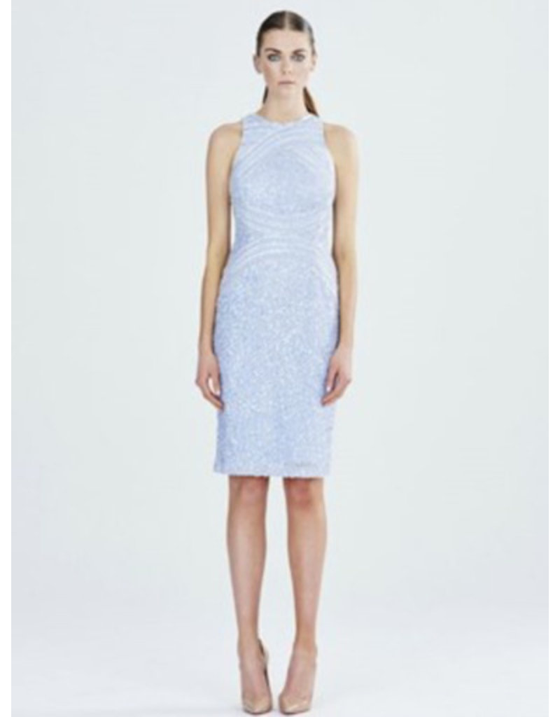 Rachel Gilbert Rachel Gilbert AubreeRachel Gilbert Ice Blue sequin short dress, ice Blue, 10
