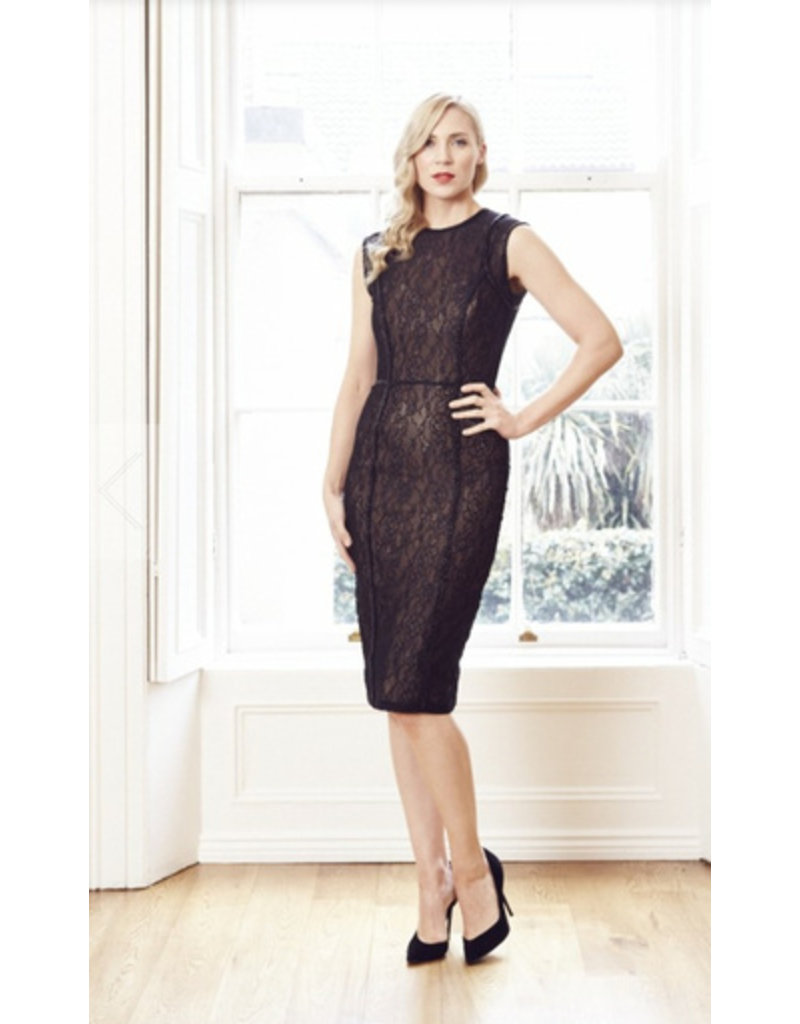 Rachel Gilbert Rachel Gilbert Hailey cocktail Dress. Black Lace.
