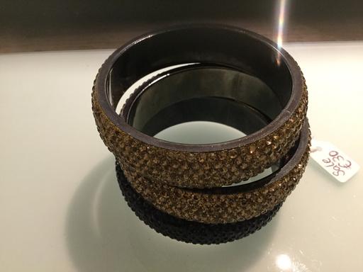Gemini, medium size bangle, black, onesize