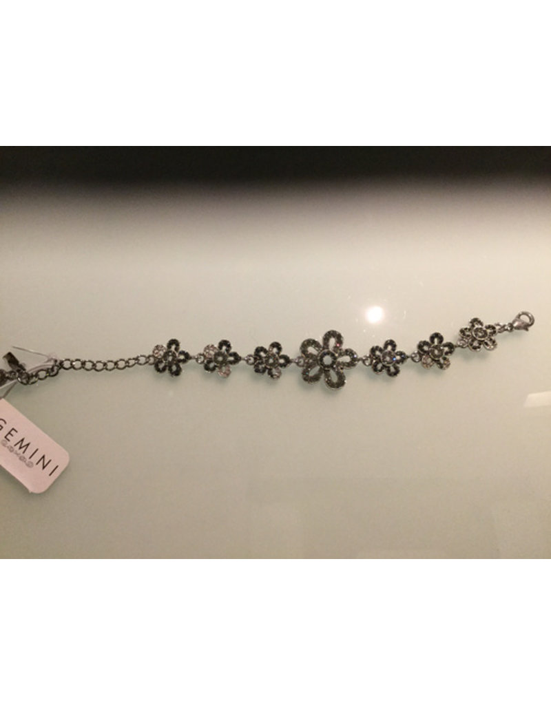 Gemini, Flower design with crystals