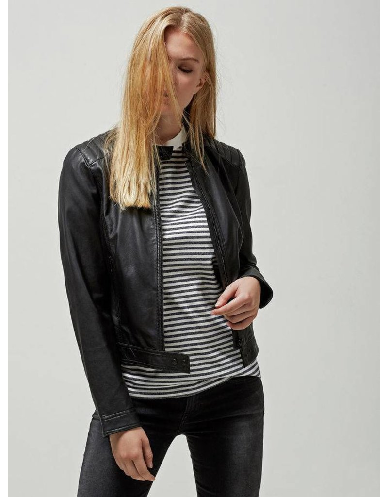 Selected Femme Hanni Leather Jacket by Selected Femme