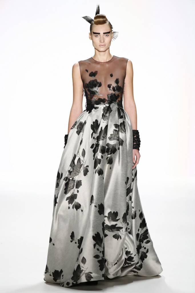 Irene Luft Irene Luft Silver/Black Gown
